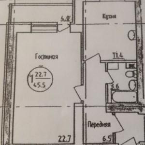 Однокомнатная квартира в Затоне